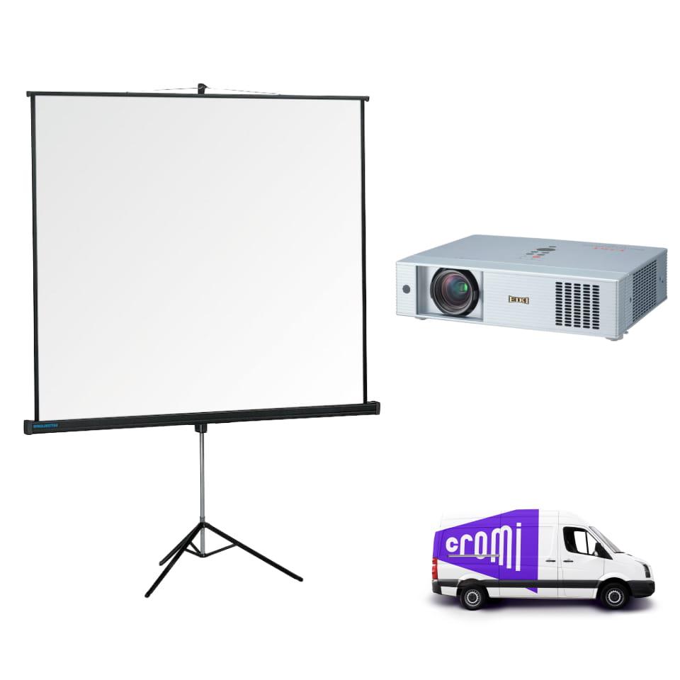 Проектор + экран с доставкой
