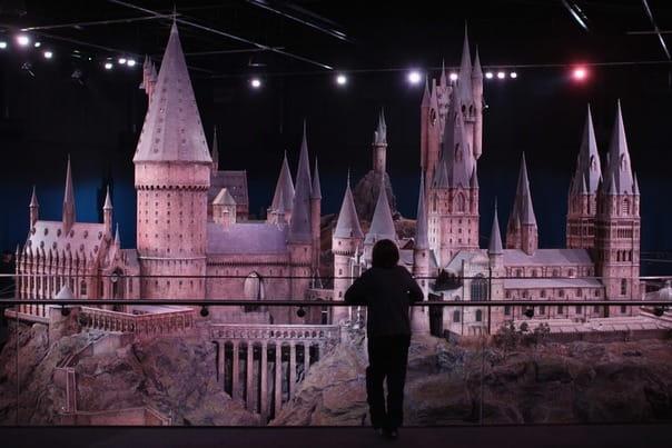 Макет замка Хогвартс для панорамных съемок